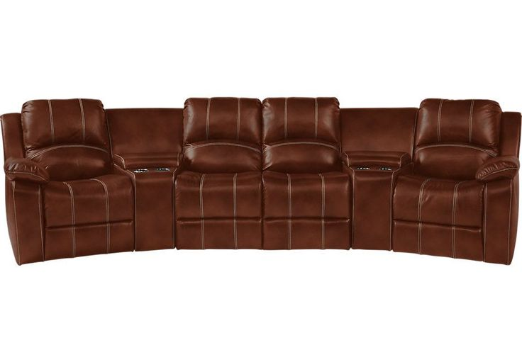 1400.00  picture of Fenway Heights Brown 5 Pc Leather Sectional  from  Furniture