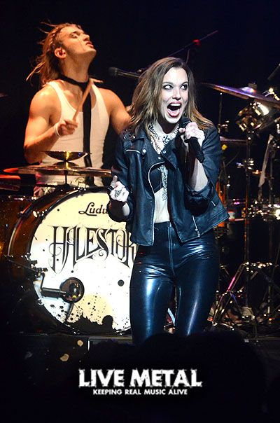 Lzzy Hale ✾ and Arejay Hale of Halestorm Fear of the Dark