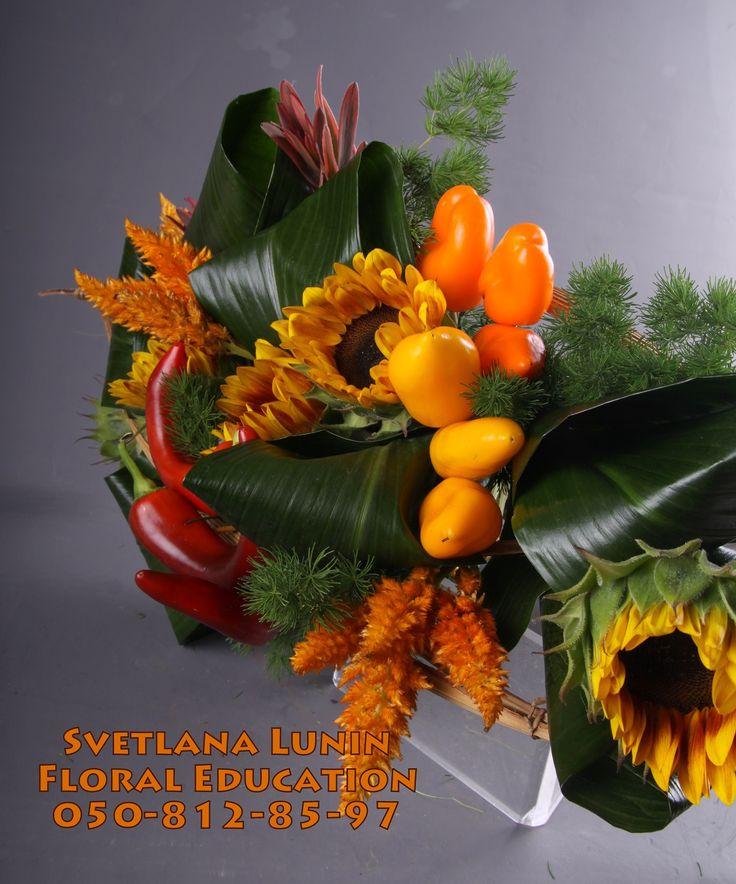 The bouquet on a framework executed by Svetlana Lunin