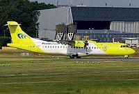 Mistral Air ATR 72-500 (72-212A) I-ADLW aircraft, skating at Germany Nuremberg International Airport. 09/07/2016.
