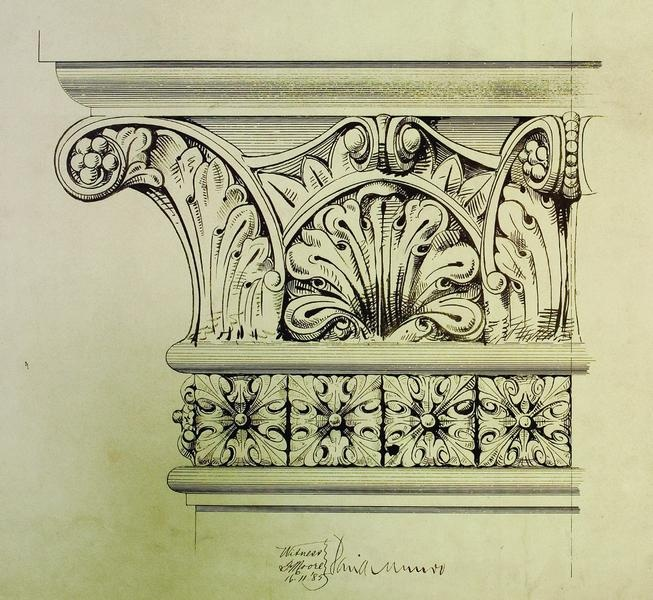 Princes Bridge, Melbourne, details of carving, 1885 by John Harry Grainger