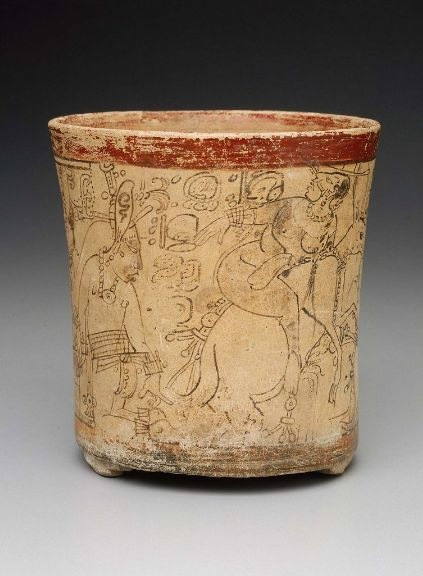 Venison was a superlative dish served at Mayan feasts...the deer also served as a prime symbol in Mayan mythology.   Pictured above: Mayan Vase A.D. 680-750