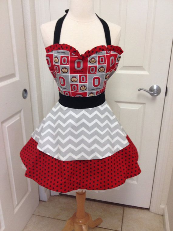 Hey, I found this really awesome Etsy listing at https://www.etsy.com/listing/175657775/ohio-state-buckeyes-apron