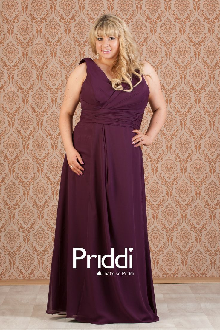 Plus+Size+Bridesmaid+Dresses+with+Sleeves | Plum chiffon ...