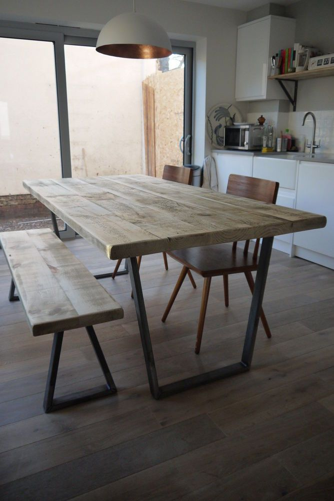 John Lewis Calia Style 140 x 80cm Industrial Reclaimed Plank Top Dining Table