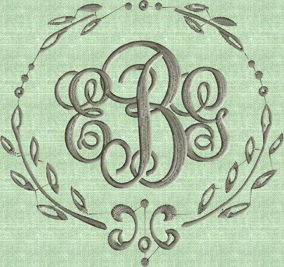 Charming Font Frame Monogram Embroidery Design -Font not included - EMBROIDERY DESIGN FILE - Instant download - Vp3 Dst Exp Jef Pes formats
