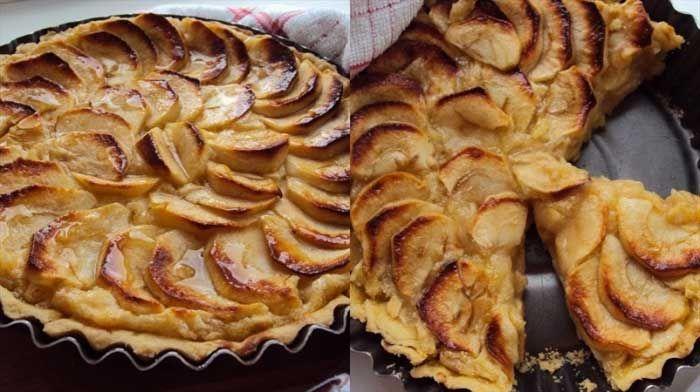 Яблочный тарт с пудинговым кремом