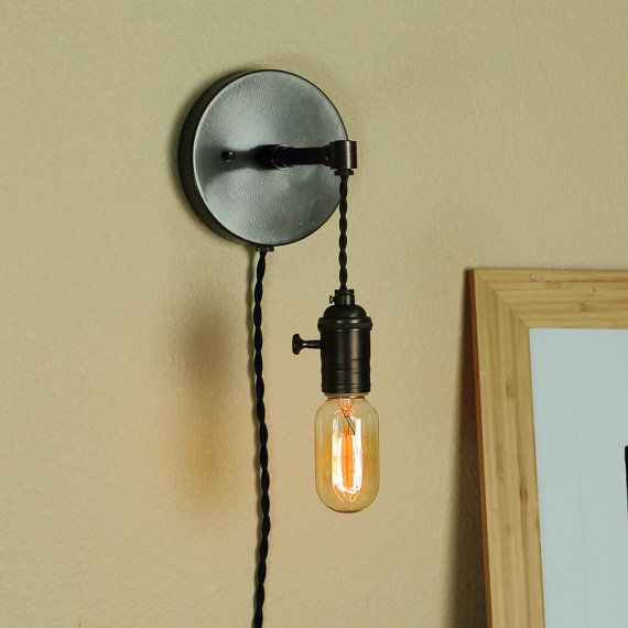 52 best craftsman lighting wall images on pinterest craftsman 149 industrial wall sconce w edison light bulb and antique style cloth wire mozeypictures Images
