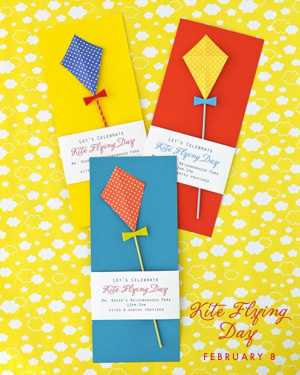 Kite Flying Day Party Invitation DIY
