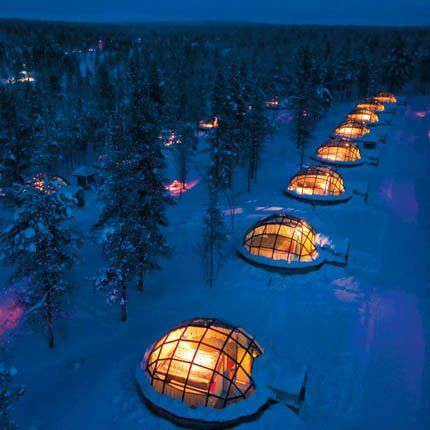 Passez une nuit dans un igloo en Finlande