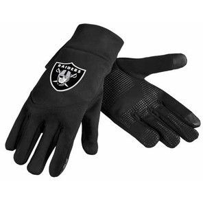 Oakland Raiders Team Logo Technology Touch Texting Gloves