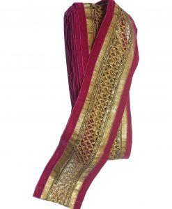 Rubans galon Indien Rose et doré 8 cm X 1 M Customisation textile