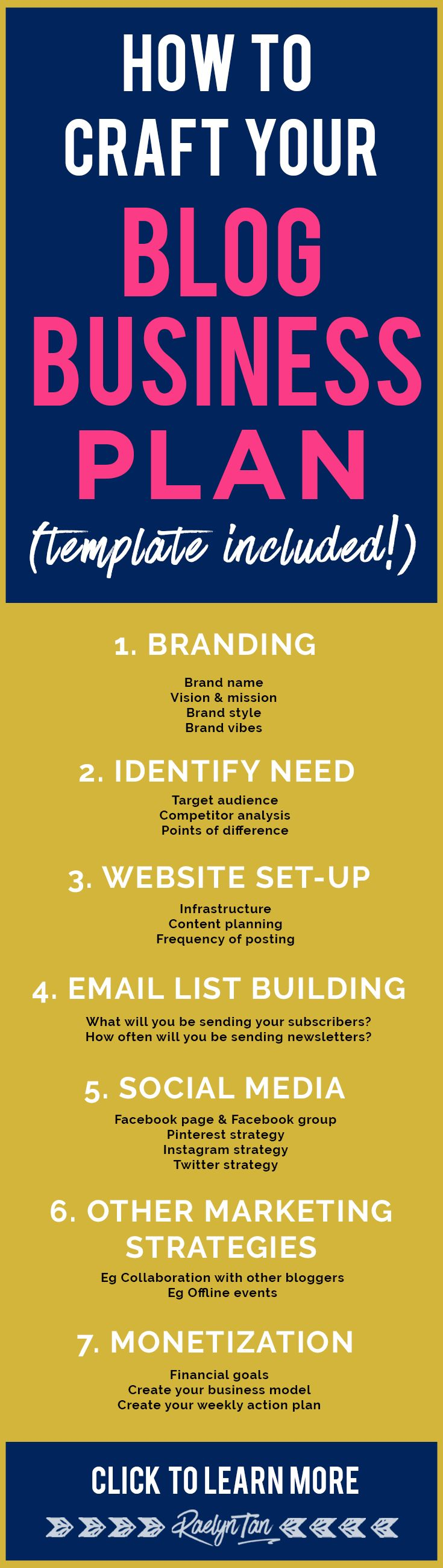 350 best raelyn tans blog images on pinterest inbound marketing how to craft your blog business plan template included fandeluxe Image collections
