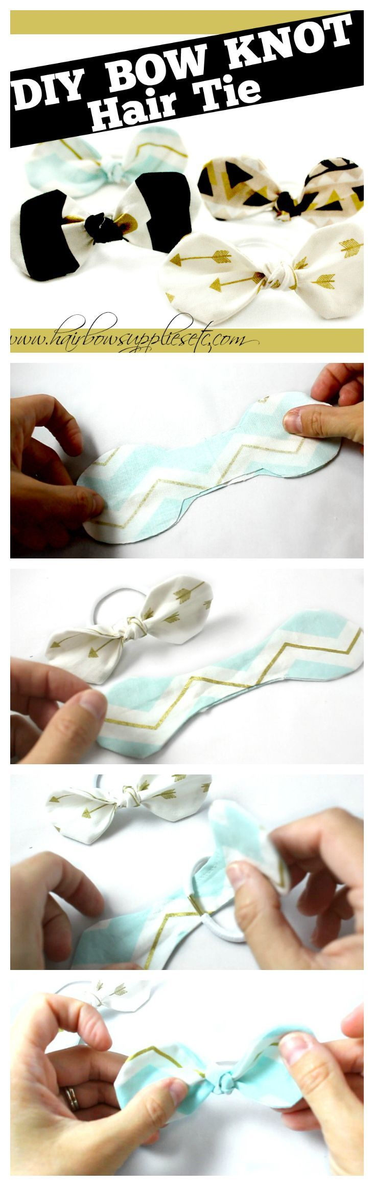 How to Make a Fabric Knot Hair Tie – Hairbow Supplies, Etc.