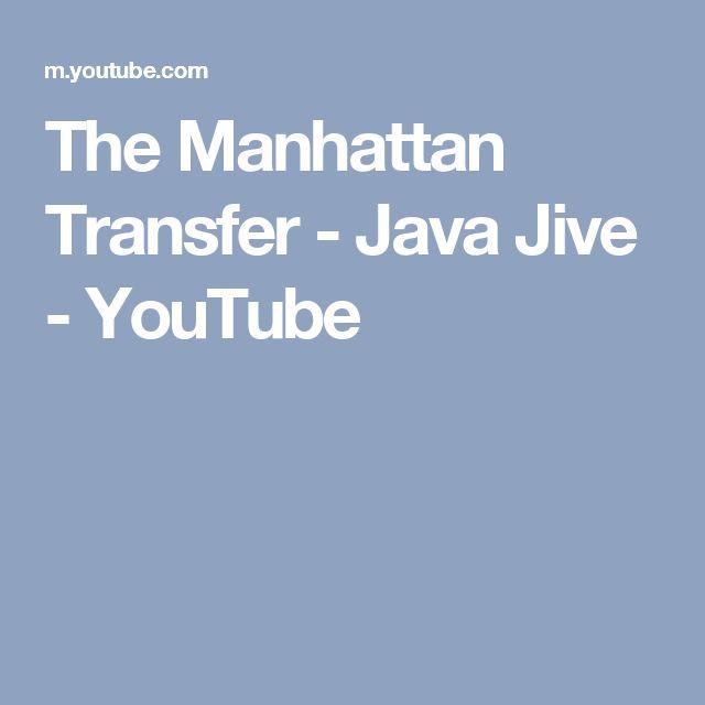 The Manhattan Transfer - Java Jive - YouTube