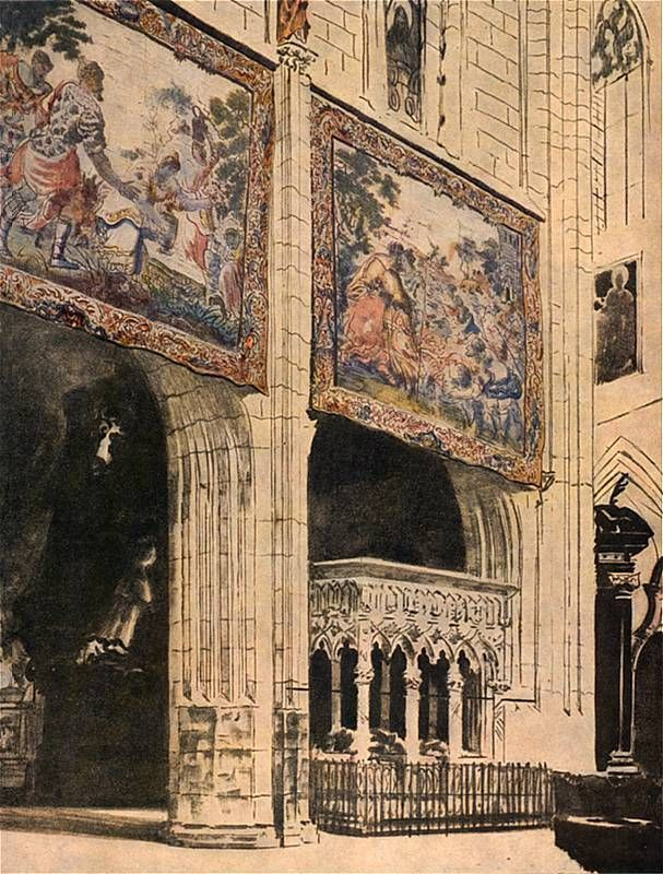 Leon Wyczółkowski - Tapestries in Wawel's cathedral, 1921