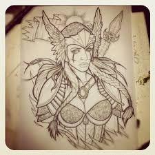 Resultado de imagen de valkyrie tattoo