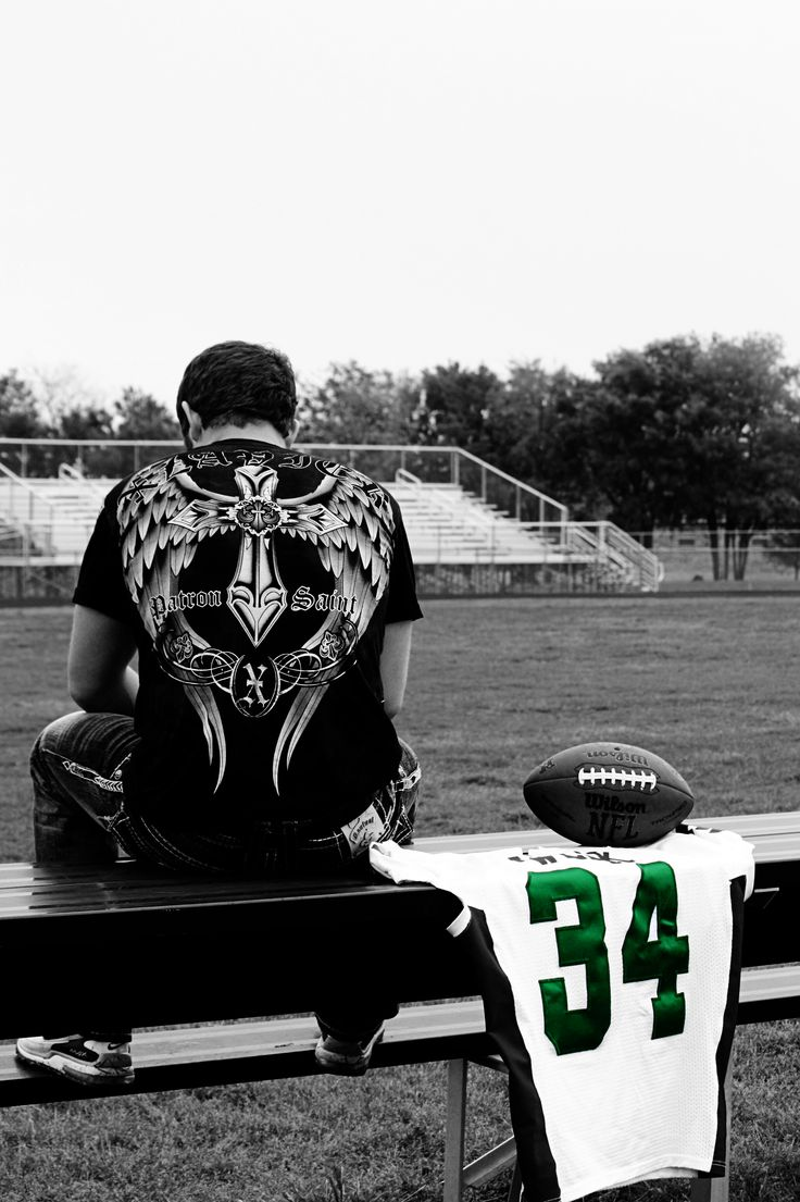 Cool Senior Pic- Football