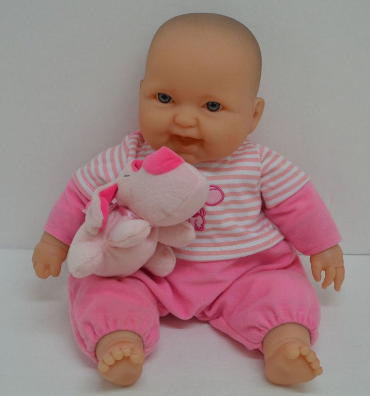 Berenguer Baby Doll Blue Eyes Pink Outfit Puppy Dog