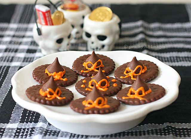 easy to do witch hats for your childrens halloween party the peach kitchen - Halloween Decorations Food