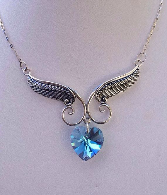 Hey, I found this really awesome Etsy listing at https://www.etsy.com/listing/226252230/angel-wing-necklace-festoon-angel-wing