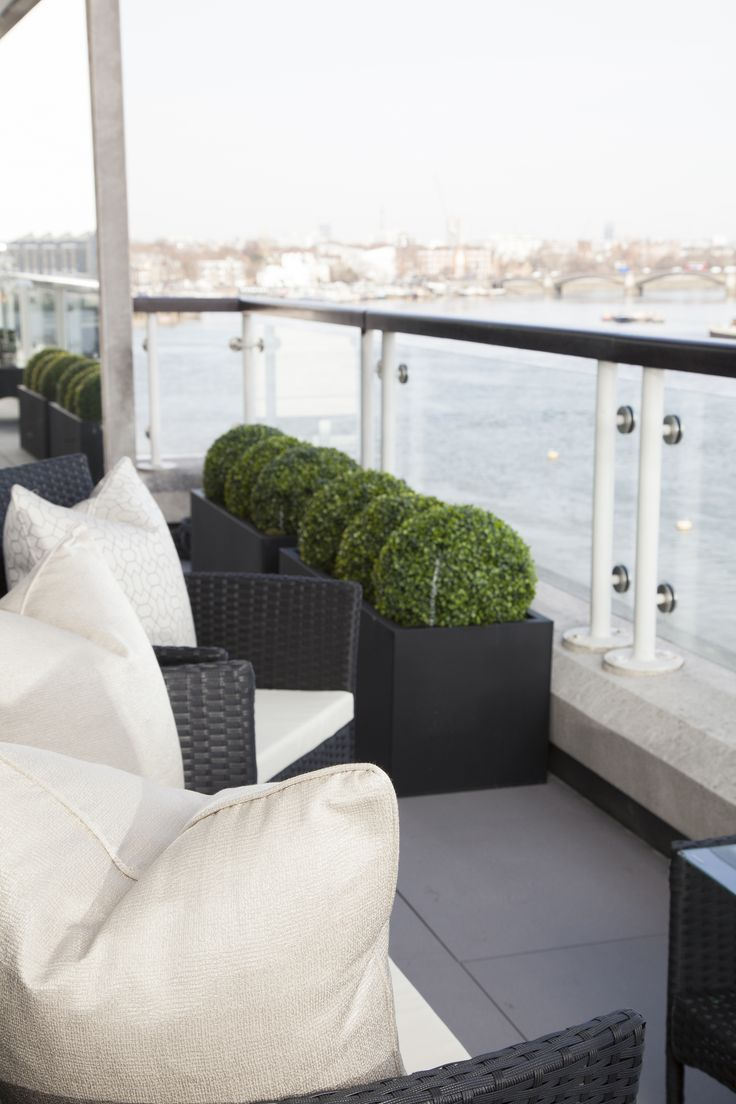 Terrace overlooking River Thames -Designed by JHR Interiors