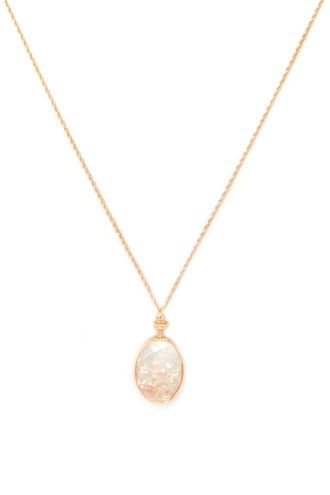 Faux Gemstone Pendant Necklace | Forever 21 - 1000152654