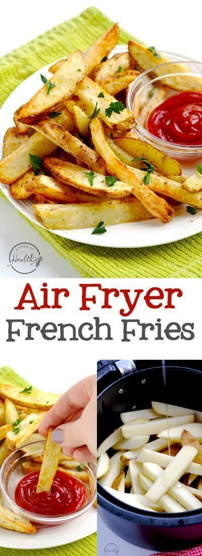 Air fryer French fries are the perfect way to make fries at home , and my family loves these! #easy #recipe #airfryer