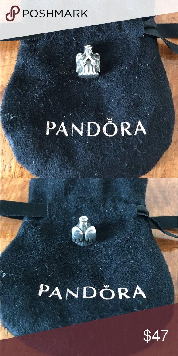 Pandora charm Pandora Angel charm, charm is silver with a gold halo.  Very good condition. Pandora Jewelry