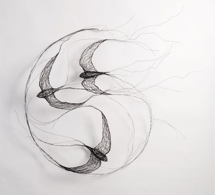 Swallows ~ wire sculpture by Celia Smith  #art
