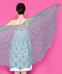 Paon Shawl by Kerry Milani  pattern found at Twist Collective