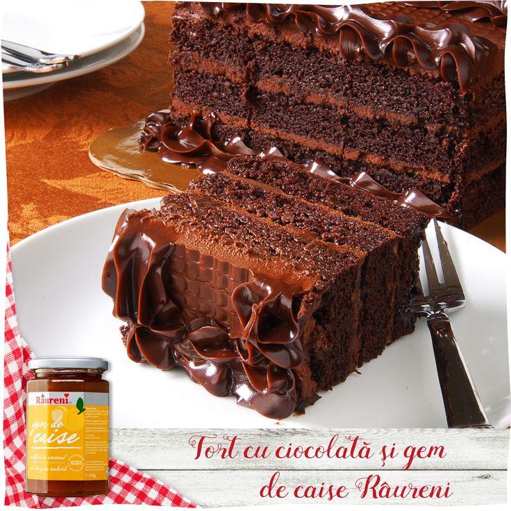 Tort cu ciocolata şi gem de caise Râureni