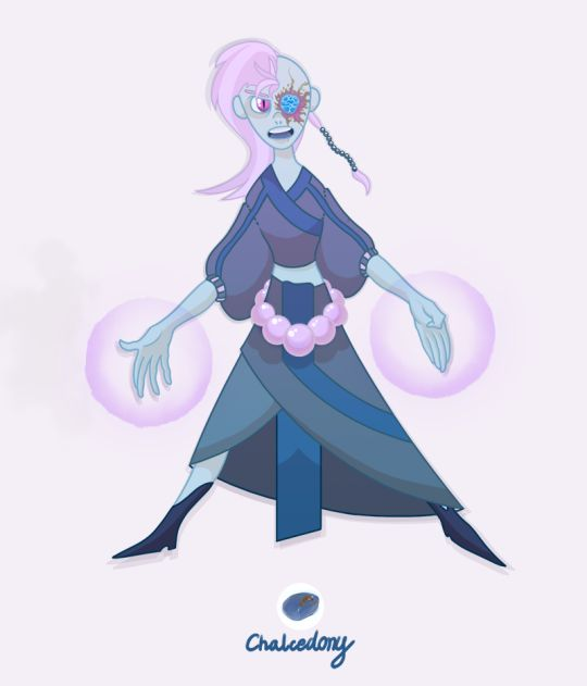 There was this fab thing going on Tumblr some time ago - making your own Gemsona, a personal Character from Steven Universe setting. I made two! And one of them is this here Chalcedony...