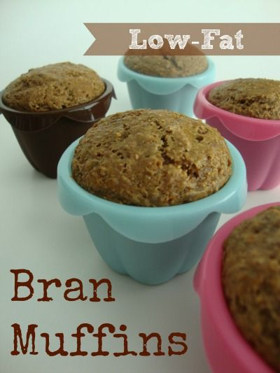 Low-Fat Bran Muffins - i never would have thought these could be SOOOOO GOOD!