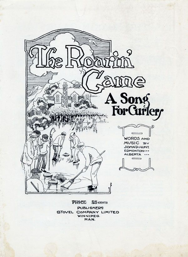 Illustrated cover of the sheet music for THE ROARIN' GAME, by John D. Hunt