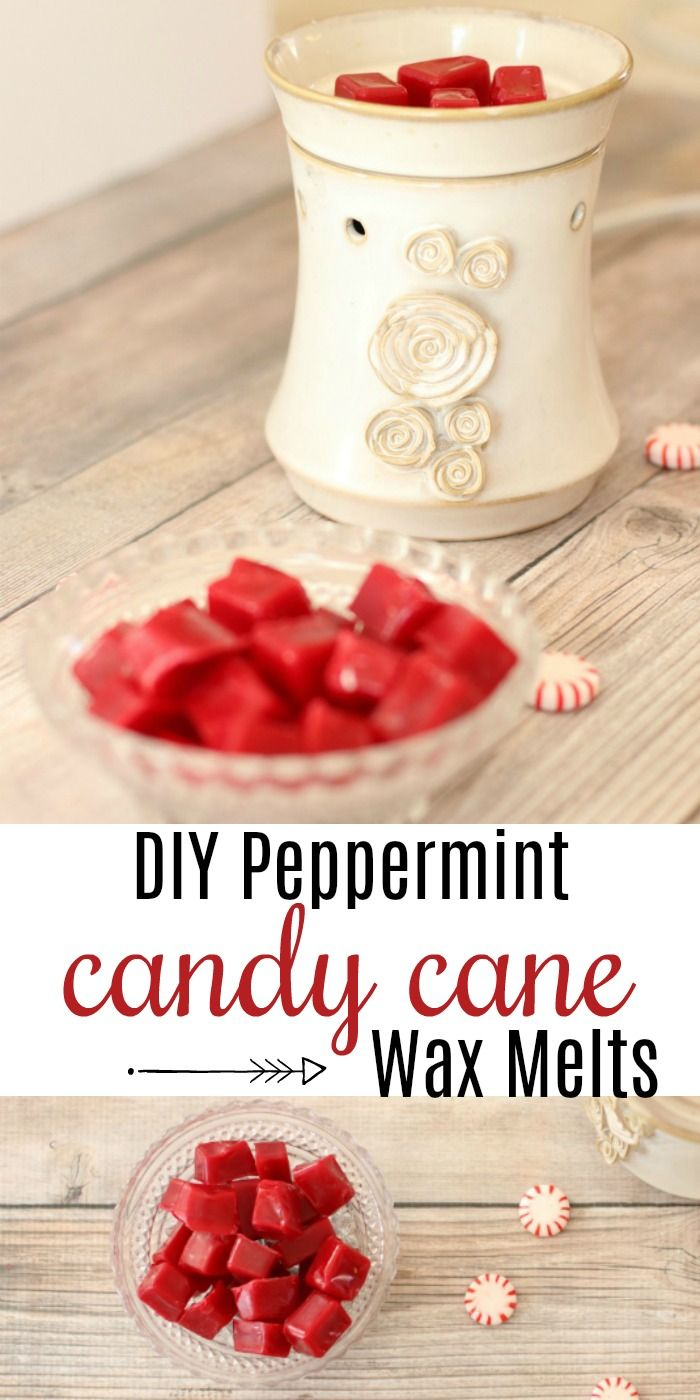 Peppermint Candy Cane DIY Essential Oil Wax Melts Diy