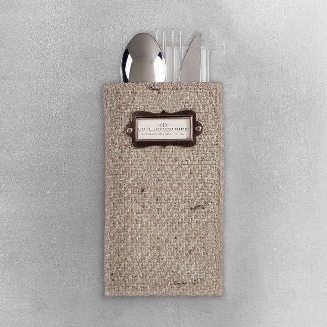 Burlap Chalkboard - Silverware Holders – Cutlery Couture
