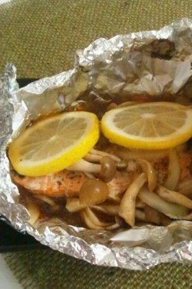 鮭ときのこのホイル焼き~レモン風味~ by 星いろ [クックパッド] 簡単 ...
