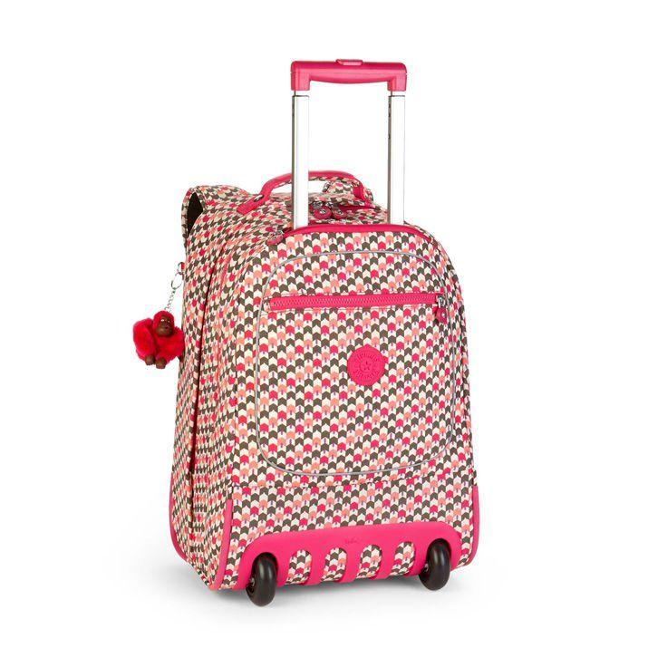 Soldes Cartable à Roulettes Rue du Commerce, achat Kipling Sac à dos à roulettes Clas Soobin pas cher 28 Litres Latin Mix Pink prix Soldes Rue du Commerce 108 € TTC au lieu de 180 €