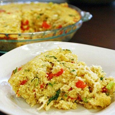http://www.skinnymom.com/2013/09/08/skinny-crustless-chicken-quiche/