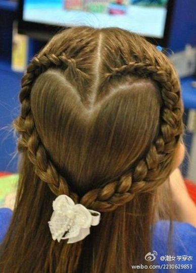 Cute Valentines Day hair