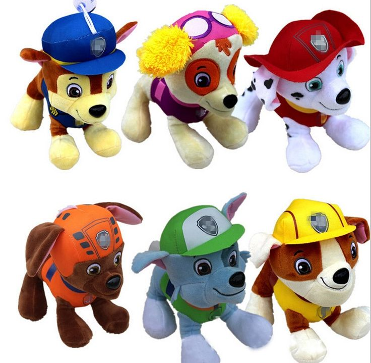 21.14$  Buy here - hot sale 6pcs 20CM Canine Patrol Dog Toys Russian Anime Doll Action Figures Car Patrol Puppy Toy  Gift for Child   #magazineonlinebeautiful