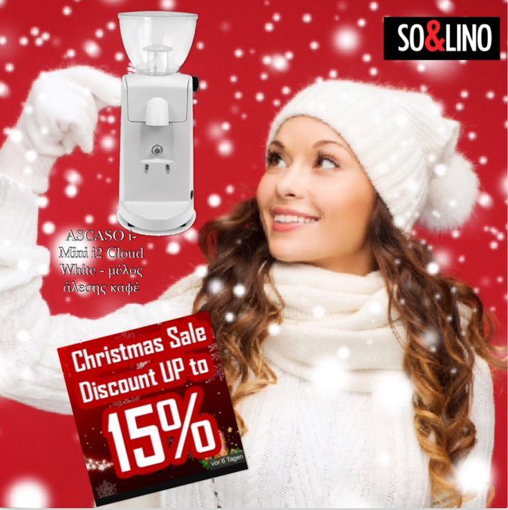 CHRISTMAS SALE  DISCOUNT UP TO 15% Order now online - http://www.solino.gr/ascaso/miloi-alesis-kafe/1107/ascaso-i2-mini-cloud-white-μύλος-άλεσης-καφέ-detail.html
