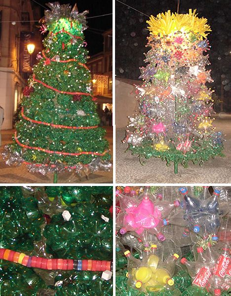 19 best christmas decorations created with recycled Christmas tree ideas using recycled materials
