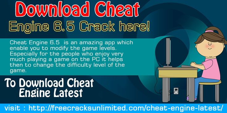 Cheat Engine 6.5 is an amazing app which enable you to modify the game levels. Especially for the people who enjoy very much playing a game on the PC it helps then to change the difficulty level of the game.
