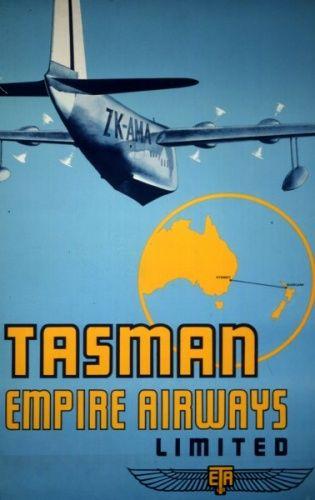 Air New Zealand Flying Social - 1940s Advertising