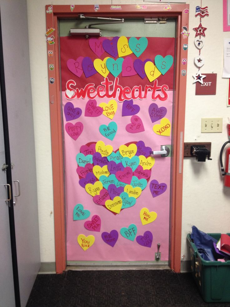 Classroom Names Ideas ~ Valentine s classroom door decoration school stuff