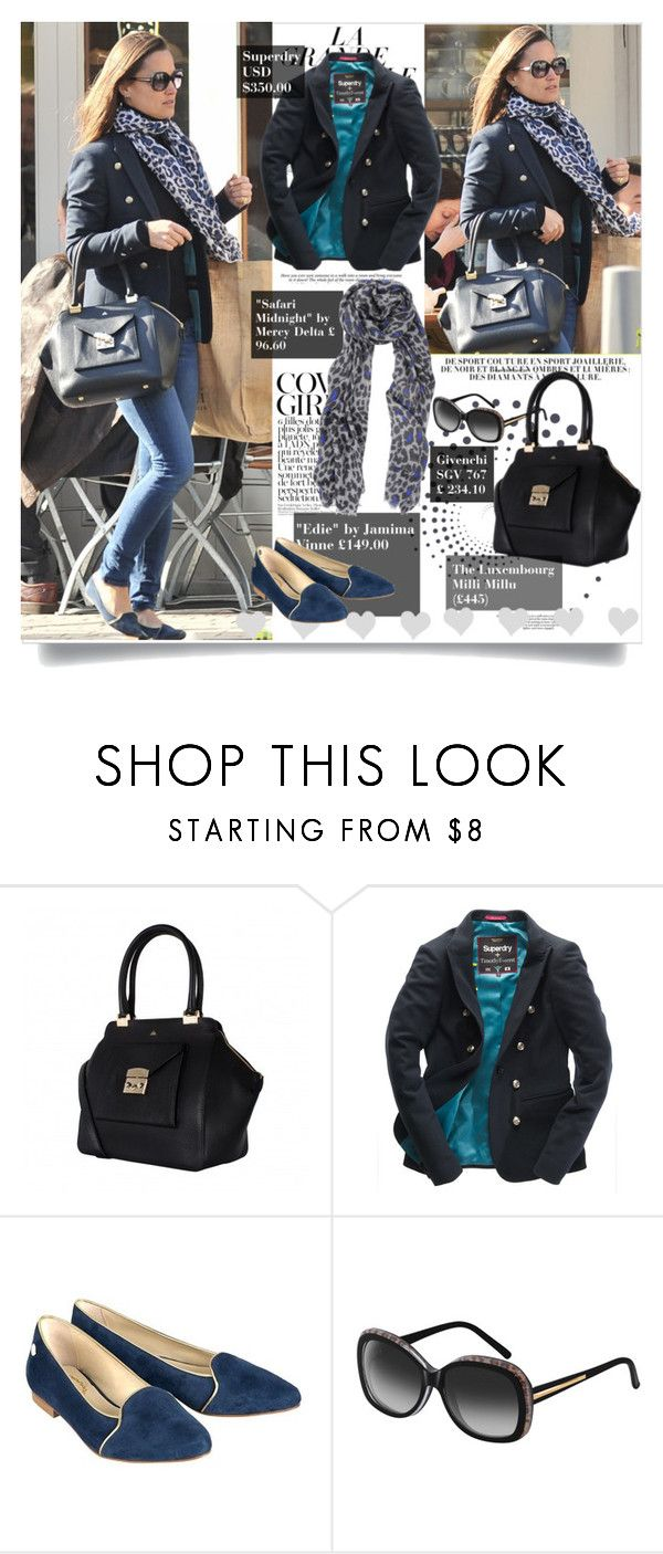 """""""Get the look Pippa Middleton"""" by presidente1 ❤ liked on Polyvore featuring Pippa, KAROLINA, Superdry, Mercy Delta, Givenchy and PippaMiddleton"""
