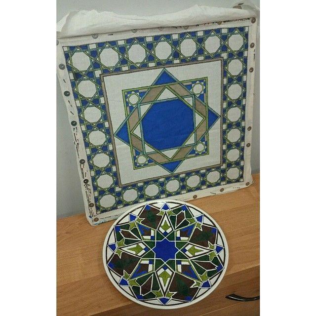 #батик и #роспись тарелки в этническом стиле #Марокко #орнамент #узор #Morocco #pattern