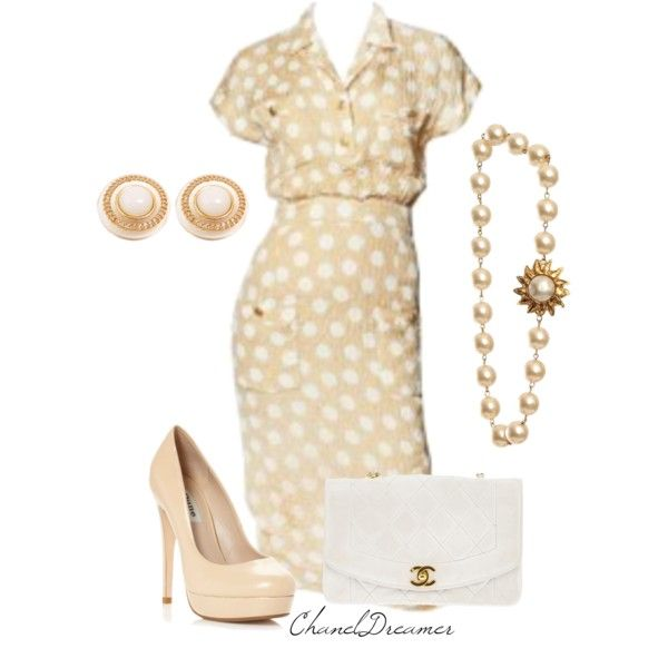 Vintage Chanel Dress by chaneldreamer on Polyvore